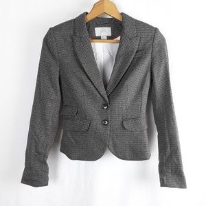 H&M Jackets & Coats - H&M Houndstooth Fitted Blazer Dual Button Pocket